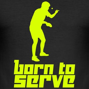 Born to Serve (Vector) - Men's Slim Fit T-Shirt