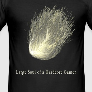 Large Soul of a  Gamer - Men's Slim Fit T-Shirt