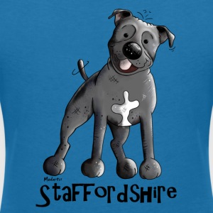 Staffordshire Bull terrier T-Shirts - Women's V-Neck T-Shirt