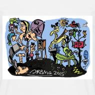 Design ~ Colour Doodle T-Shirt Sam Backhouse