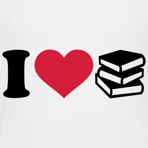 I love Bücher T-Shirts - Kinder Premium T-Shirt
