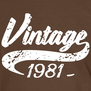 Vintage 1981 Tee shirts - T-shirt contraste Homme