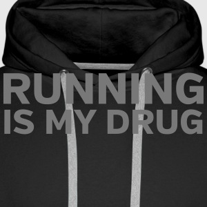 Running Is My Drug Sweat-shirts - Sweat-shirt à capuche Premium pour hommes