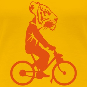 tiger head bike profile man 0 T-Shirts - Women's Premium T-Shirt