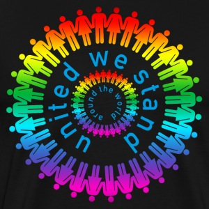 united we stand around the world color T-shirts - Premium-T-shirt herr