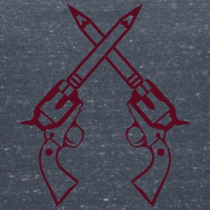 double pistolet crayon revolver croise Tee shirts - T-shirt col V Femme