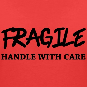 Fragile - Handle with care T-shirts - T-shirt med v-ringning dam