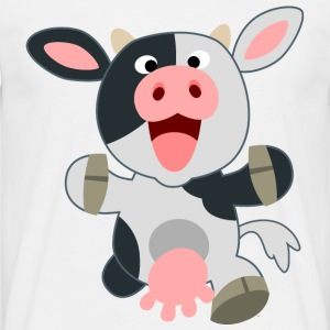 Cute Friendly Cartoon Cow by Cheerful Madness!! T-Shirts - Men's T-Shirt