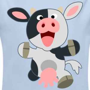 Cute Friendly Cartoon Cow by Cheerful Madness!! Hoodies - Baby One-piece