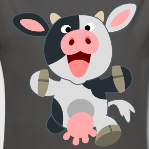 Cute Friendly Cartoon Cow by Cheerful Madness!! Hoodies - Longlseeve Baby Bodysuit