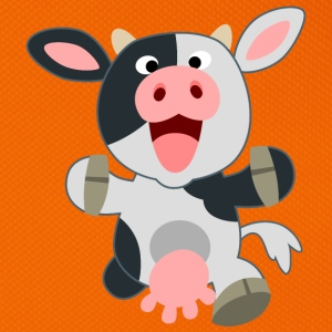 Cute Friendly Cartoon Cow by Cheerful Madness!! Bags & Backpacks - Bum bag