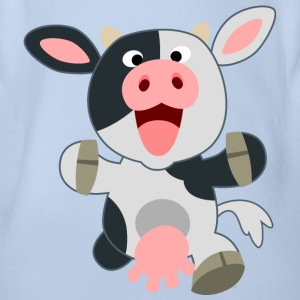 Cute Friendly Cartoon Cow by Cheerful Madness!! Shirts - Organic Short-sleeved Baby Bodysuit