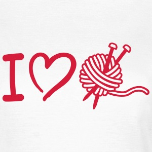 I love Stricken T-Shirts - Frauen T-Shirt