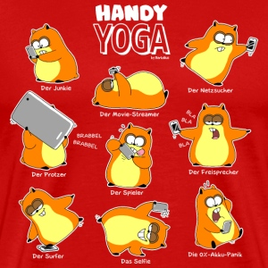 Rouge hamster yoga Tee shirts - T-shirt Premium Homme