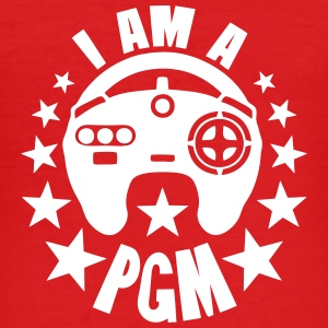 i am a pgm pro gamer manette logo Tee shirts - Tee shirt près du corps Homme
