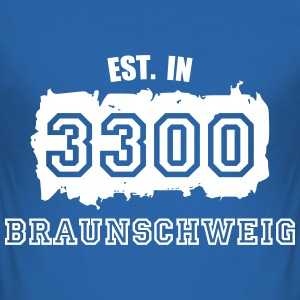 Established 3300 Braunsch T-Shirts - Männer Slim Fit T-Shirt