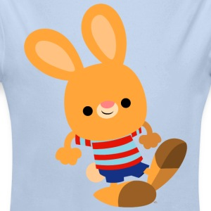 Cute Mischievous Cartoon Bunny by Cheerful Madness Hoodies - Baby One-piece