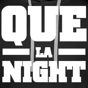 Que la night, style 92i Sweat-shirts - Sweat-shirt à capuche Premium pour hommes