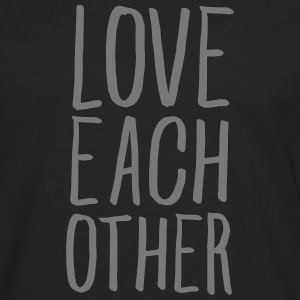 Love Each Other Long sleeve shirts - Men's Premium Longsleeve Shirt