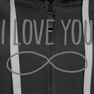I Love You (Forever Symbol) Hoodies & Sweatshirts - Women's Premium Hooded Jacket