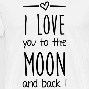 I love you to the moon T-Shirts - Männer Premium T-Shirt