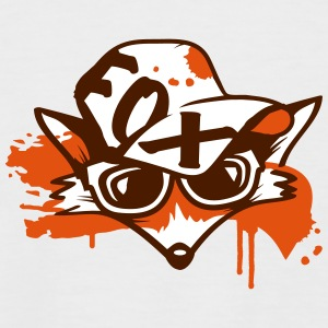 fox with a baseball cap and sunglasses T-Shirts - Men's Baseball T-Shirt