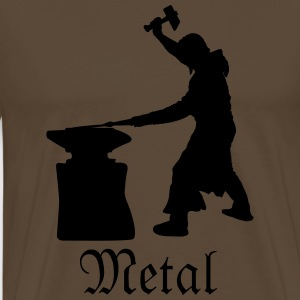 Metal, Schmied,Heavy metal, Schmied, Metall, Ambos - Männer Premium T-Shirt