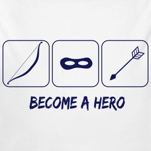 Become a hero Pullover & Hoodies - Baby Bio-Langarm-Body