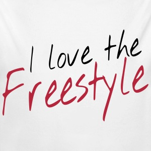 I love the freestyle Sweaters - Baby bio-rompertje met lange mouwen