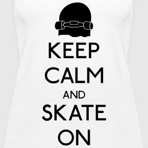 Keep Calm skate on Tops - Women's Premium Tank Top