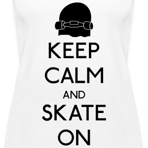Keep Calm skate on holde ro skate på Topper - Premium singlet for kvinner