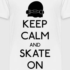 Keep Calm skate on T-Shirts - Kinder Premium T-Shirt