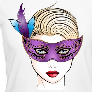 masked woman - Frauen Bio-T-Shirt