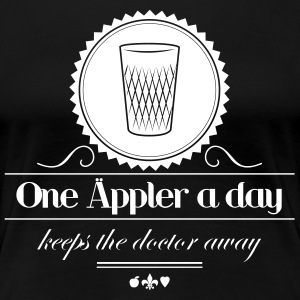 One Äppler a Day Klassik T-Shirts - Frauen Premium T-Shirt
