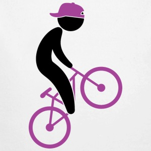 A cyclist doing tricks on his bike Hoodies - Longlseeve Baby Bodysuit