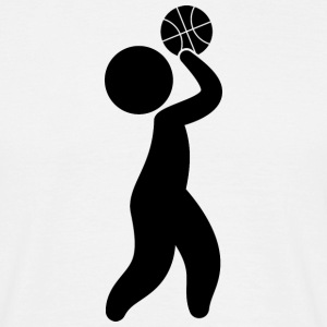 A basketball player throwing the ball T-Shirts - Men's T-Shirt