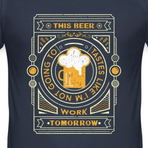 Navy this beer tastes like.... T-Shirts - Men's Slim Fit T-Shirt