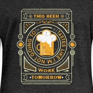 Heather Black this beer tastes like.... Hoodies & Sweatshirts - Women's Boat Neck Long Sleeve Top