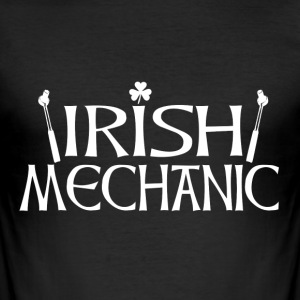 Irish Mechanic back T-Shirts - Men's Slim Fit T-Shirt