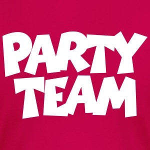 Party Team T-Shirt (Damen/Pink) Rücken - Frauen Premium T-Shirt