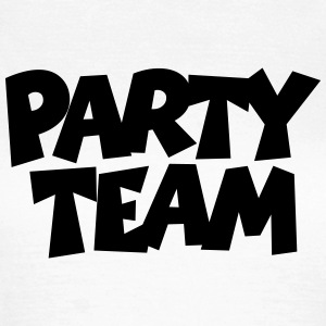 Party Team T-Shirt (Damen Weiß) - Frauen T-Shirt