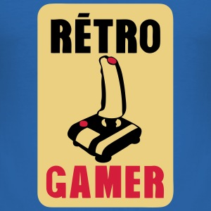 retro gamer Joystick altes Logo T-Shirts - Männer Slim Fit T-Shirt