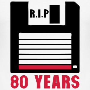 Rip 80 years floppy disk 3 inch T-Shirts - Men's Slim Fit T-Shirt