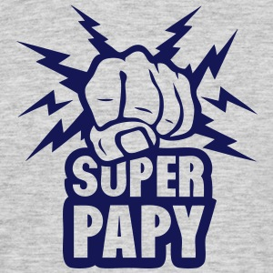 super papy poing fermer force eclair Tee shirts - T-shirt Homme