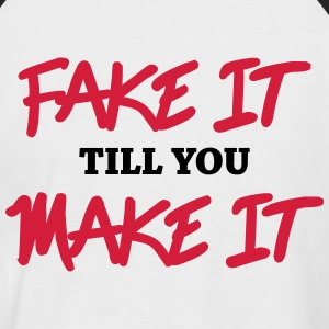 Fake it till you make it Magliette - Maglia da baseball a manica corta da uomo