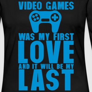 video games was my first love last Langarmshirts - Frauen Premium Langarmshirt