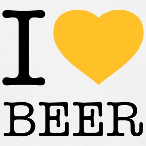 I LOVE BEER - Männer T-Shirt