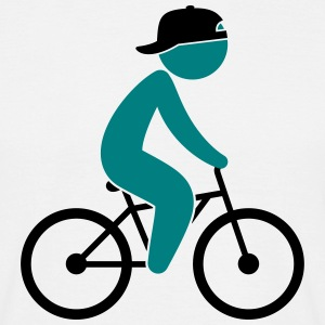 A cyclist rides on his bicycle T-Shirts - Men's T-Shirt
