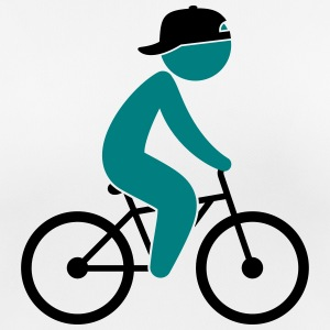 A cyclist rides on his bicycle T-Shirts - Women's Breathable T-Shirt