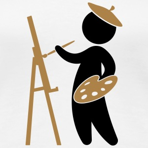 A painter working on his masterpiece T-Shirts - Women's Premium T-Shirt